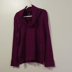 Talbots | Plum Cowl Neck Sweater